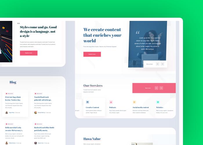 redesign strony - zalety