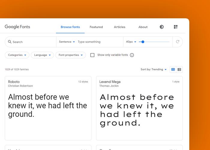 google fonts - definicja