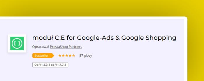 marketing prestashop - modul c.e for google ads & google shopping