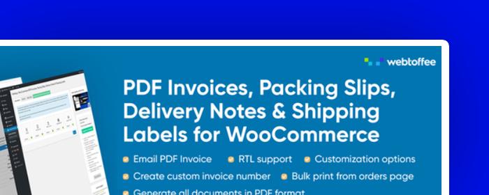 wtyczka woocommerce pdf invoices packing slips